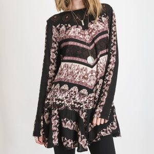 Free People Smooth Talker Tunic Black XS